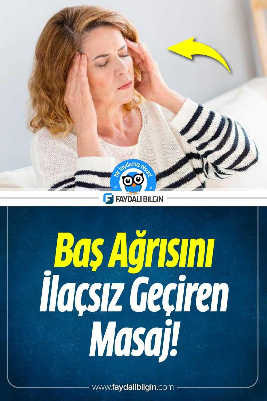 Baş ağrısını ilaçsız geçiren masaj