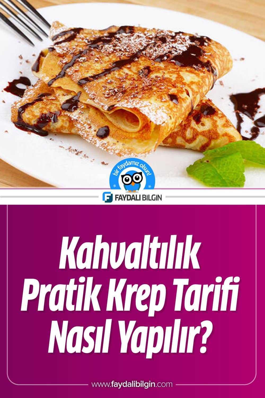 Kahvaltılık Kolay Krep Tarifi Nasıl Yapılır?