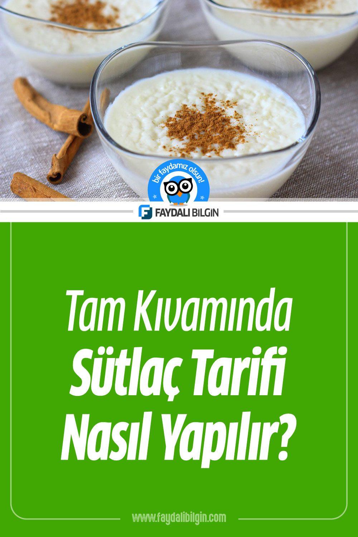 Tam Kıvamında Sütlaç Tarifi, Nasıl Yapılır?