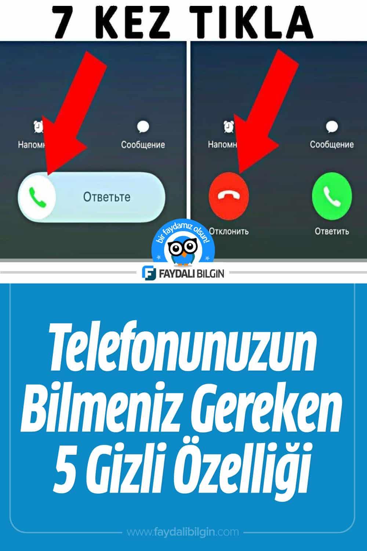 Telefonunuzun Bilmeniz Gereken 5 Gizli Özelliği