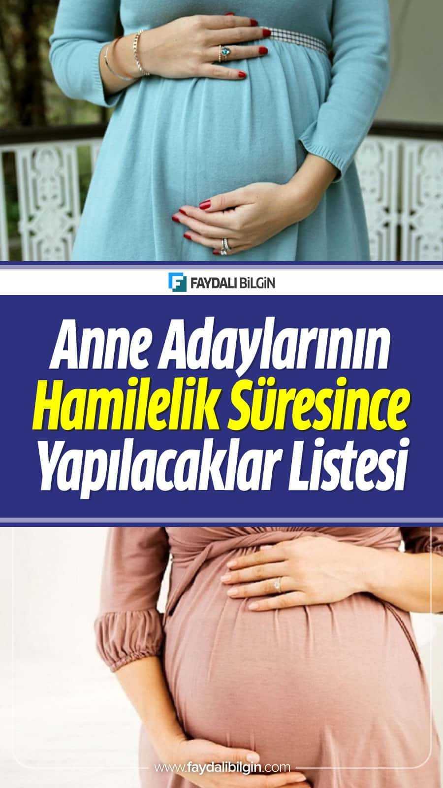 Müslüman Anne Adaylarının Hamilelik Süresince Yapılacaklar Listesi. #hamile #hamilelik #müslümananne #anne #annelik #sağlık #bebek