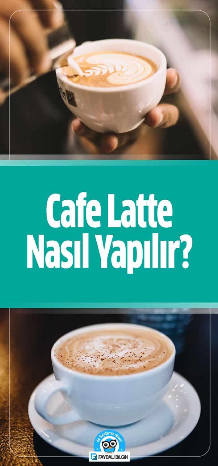 Profesyonel kahve makineleriyle Cafe Latte yaparken püf noktası espressoya buharda ısıtılmış süt eklenir.  İşte Cafe Latte Tarifi. #cafe #cafelatte #nasılyapılır