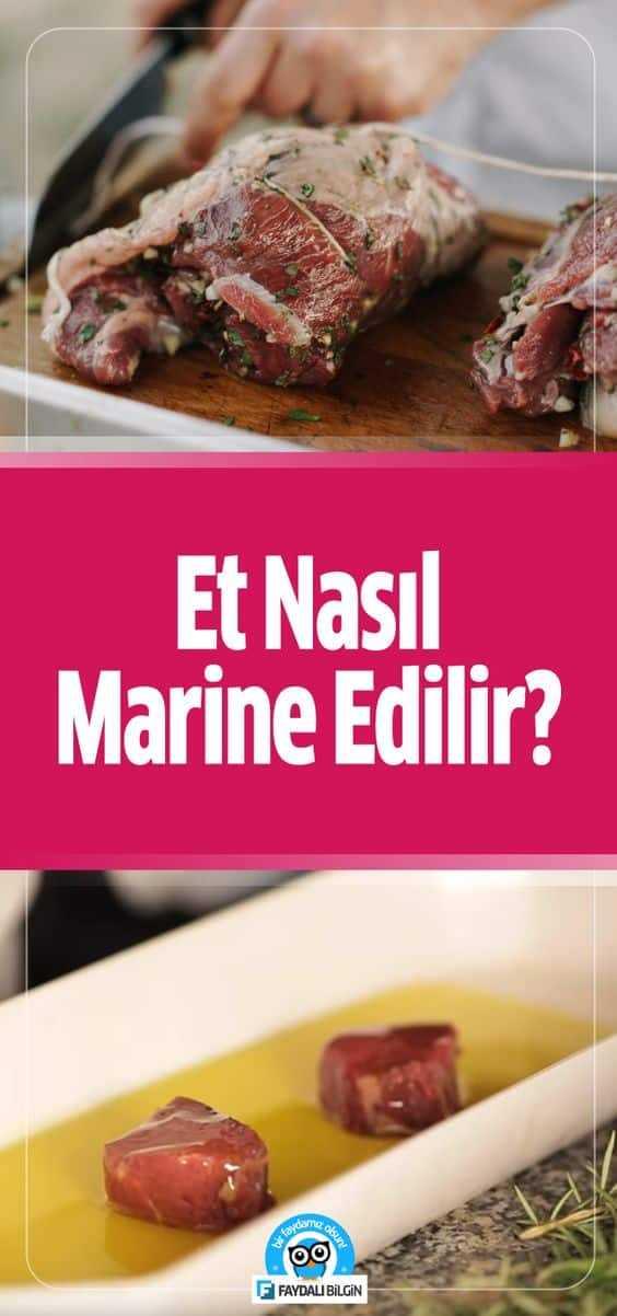 Et nasıl marine edilir? Etteki sinir, lif ve kas dokularını yumuşatmak için zeytinyağı, krema, süt ve soya sosu kullanılabilir. #et #marine #nasıl #yapılır #yemek