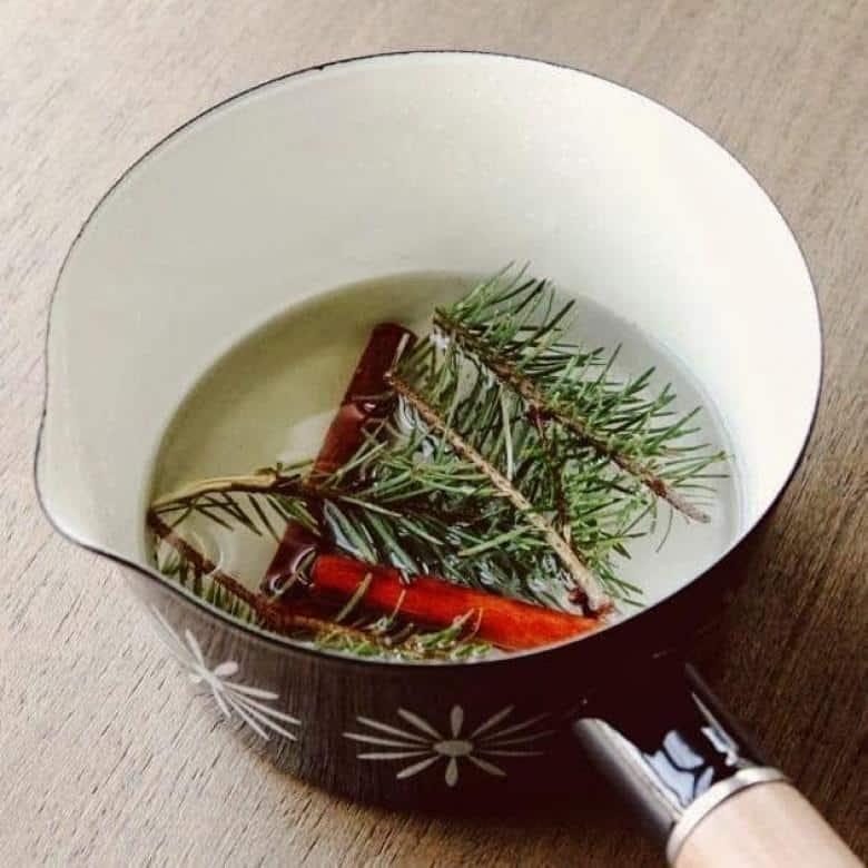 Çam iğnesini tarçın ve sıvı yağ ile kaynatın