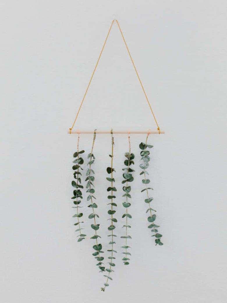 Okaliptüs yapraklarında hoş bir süs hazırlayın