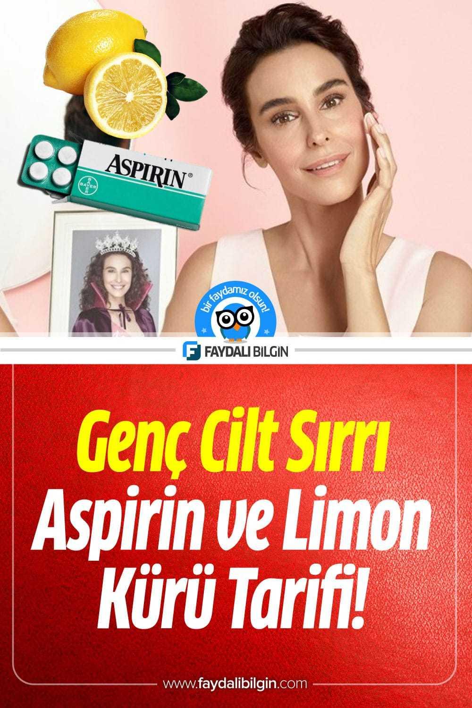 Genç Görünmenin Sırrı! Aspirin ve Limon Kürü