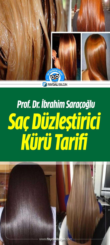Prof. Saraçoğlu'ndan Saç Düzleştirici Kürü Tarifi