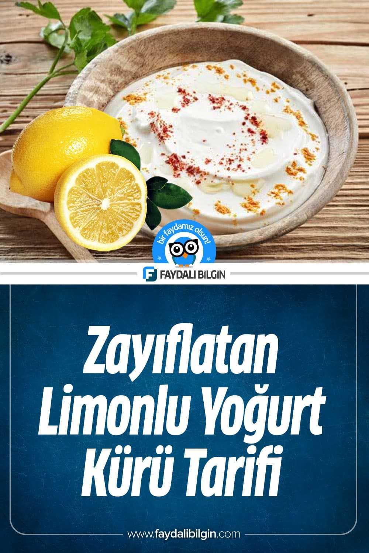 Zayıflatan Göbek Eriten Limonlu Yoğurt Kürü Tarifi