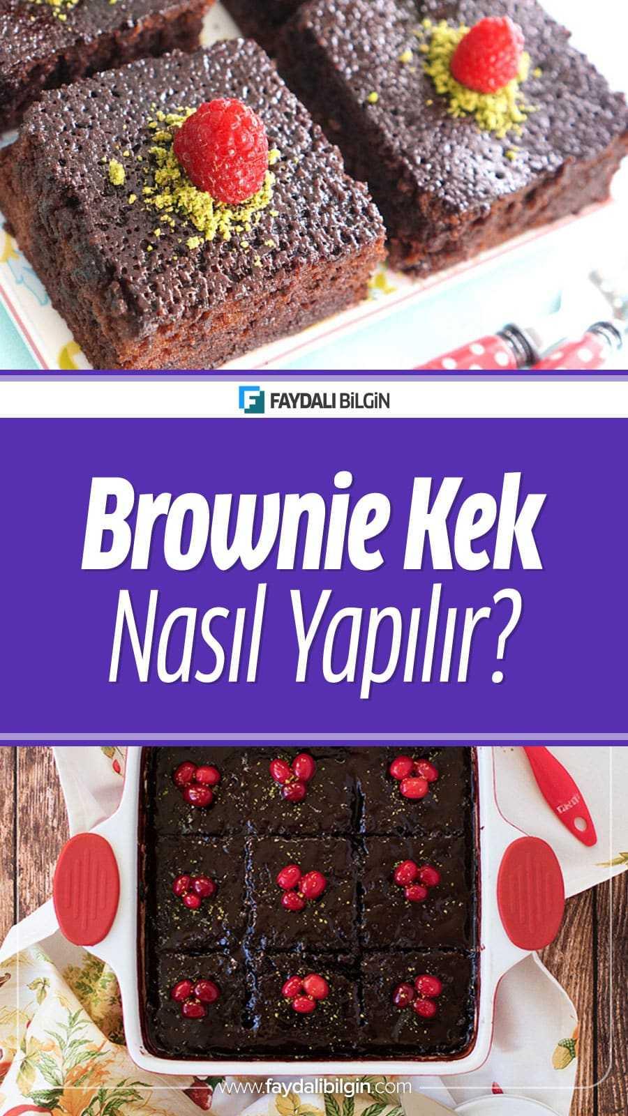 Brownie Islak Kek Tarifi Nasıl Yapılır?