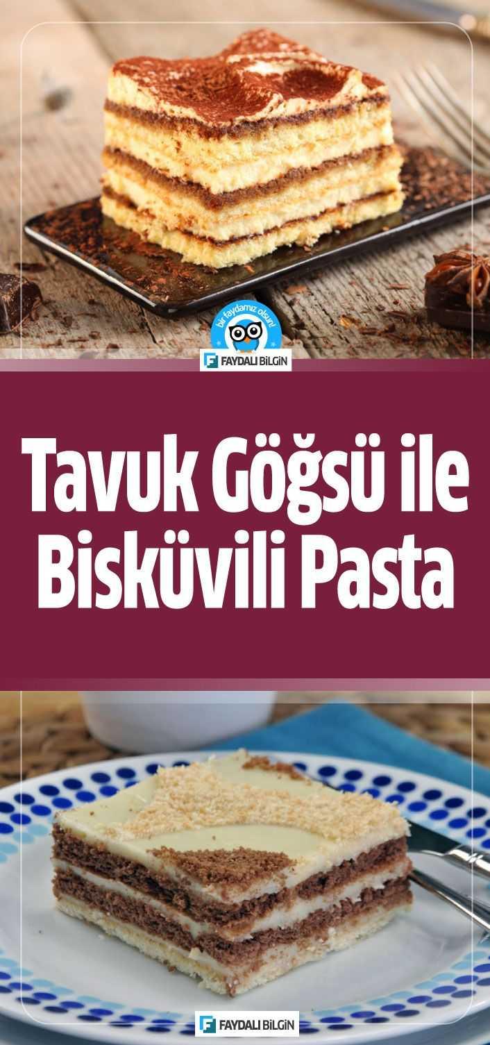 Nefis Yemek Tarifleri kanalındanTavuk Göğsü ile Bisküvili Pasta tarifi. Kıvamı ölçüsü tam, şık sunumu ile dikkatleri çeken çok pratik bir tatlı tarifi.