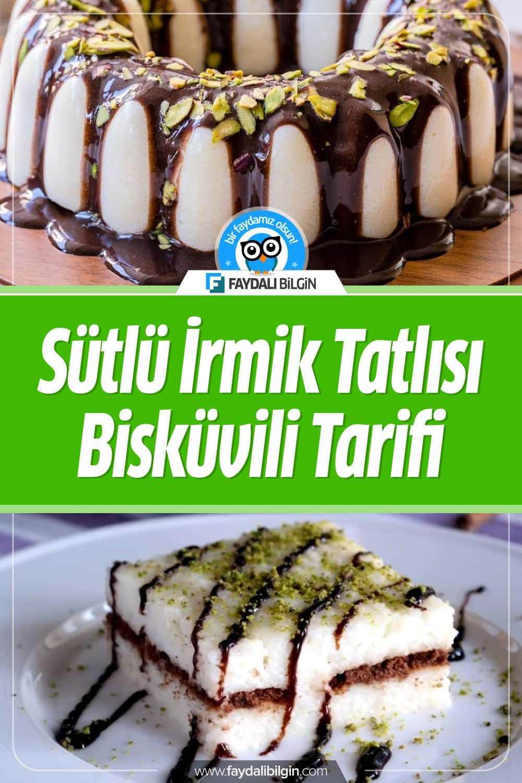 Nefis Yemek Tarifleri kanalının hazırladığı Sütlü İrmik Tatlısı Bisküvili Tarifi. Sevgili takipçilerimiz bugün sizler için hafif mi hafif, çok lezzetli olan sütlü irmik tatlısını hazırladık. #nefis #yemek #tarif #sütlü #irmik #tatlı #sütlüirmik #tatlılar #recipe #recipes