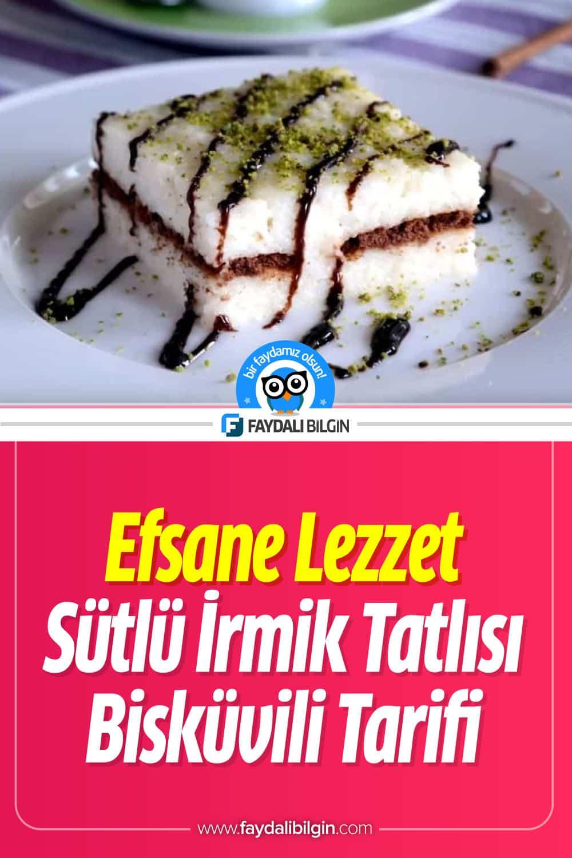 Sütlü İrmik Tatlısı Bisküvili Tarifi