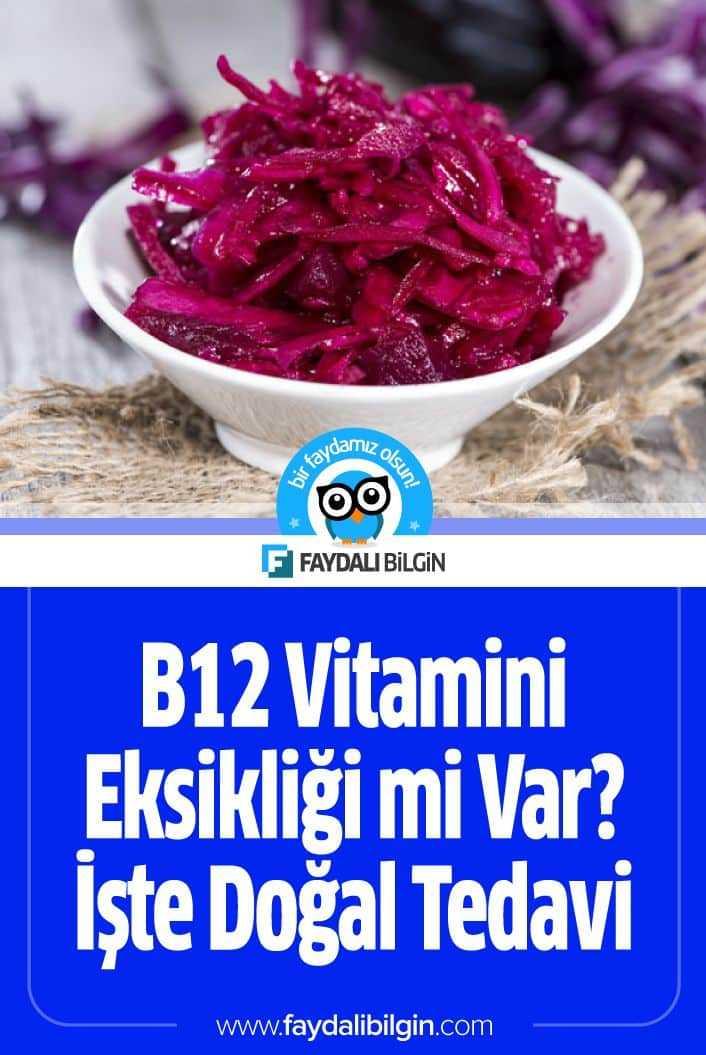 B12 Vitamini Eksikliği mi Var? İşte Doğal Tedavi