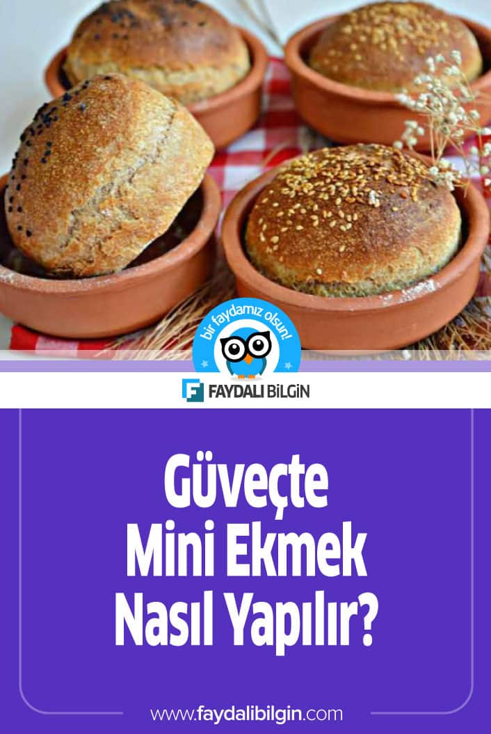 Güveçte Mini Ekmek yapmayı denediniz mi? Hiç denemediyseniz kesinlikle tavsiye ederim. İşte Güveçte yapılan Mini Ekmek Tarifi. #ekmek #ekmekler #ekmektarifi #tarif #hamurişi #pastane #güveç #recipe #recipes