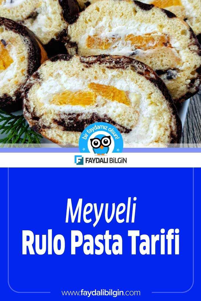 Meyveli Rulo Pasta Tarifi - Rulo Pasta Nasıl Yapılır?