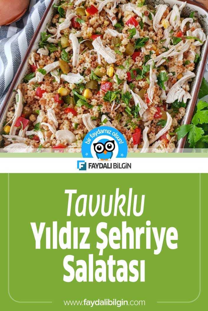 Tavuklu Yıldız Şehriye Salatası Tarifi