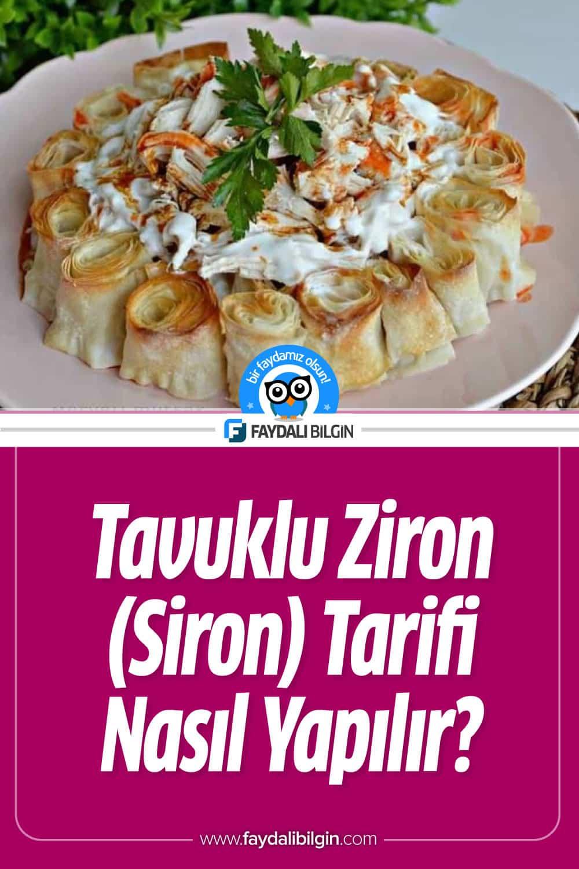Tavuklu Ziron (Siron) Tarifi