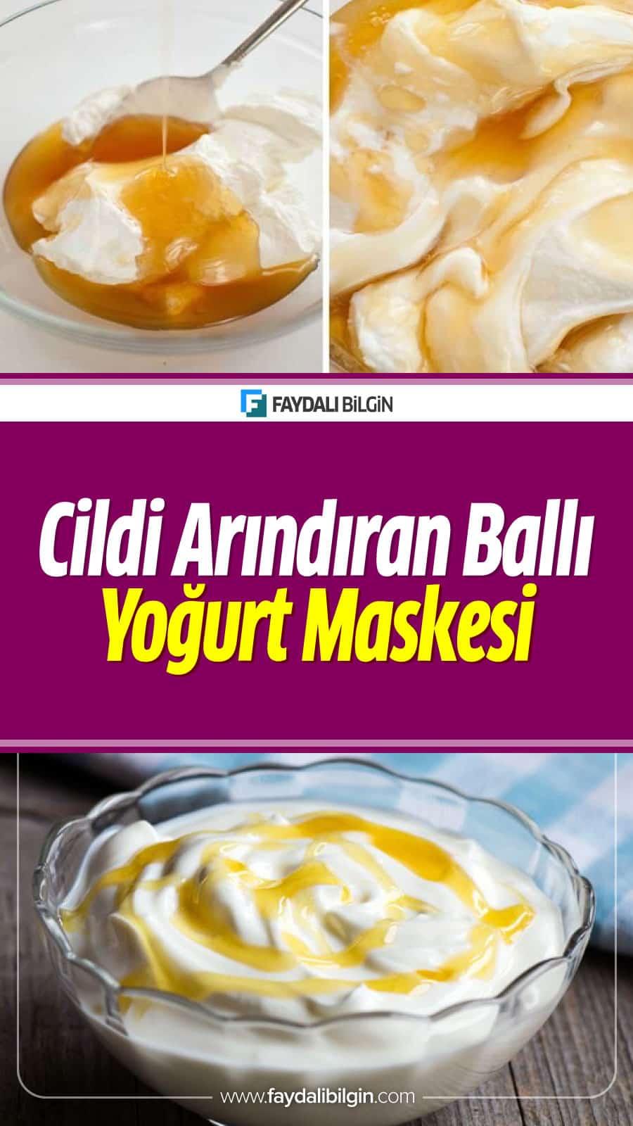 Cildi kir ve ölü hücrelerden arındıran ballı yoğurt maskesi oldukça ekonomiktir. Sadece iki malzemeden oluşan maskeyi doğal malzemelerden yapmak önemlidir.