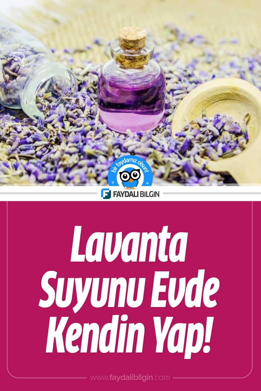 Evde Lavanta Suyu Nasıl Yapılır? Lavanta Suyunun 5 Faydası