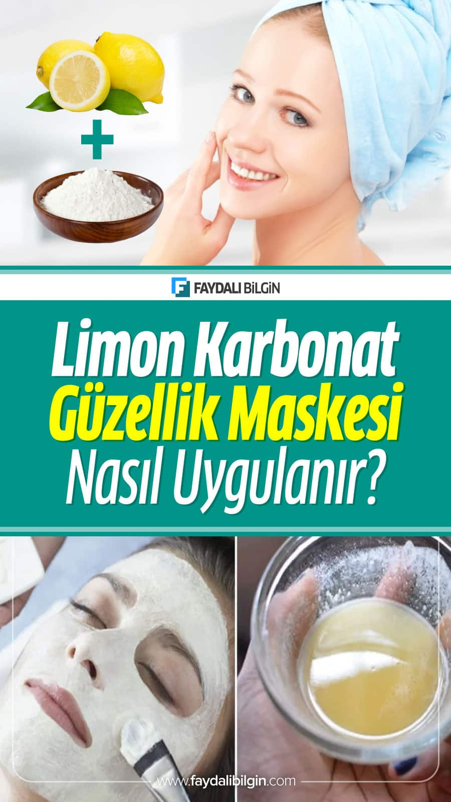 Limon karbonat maskesi ciltteki ölü derilerin atılmasına, cildin temizlenmesine ve cilt problemlerin tedavisinde tercih ediliyor. #limon #karbonat #güzellik #maske #ciltbakımı #kadın