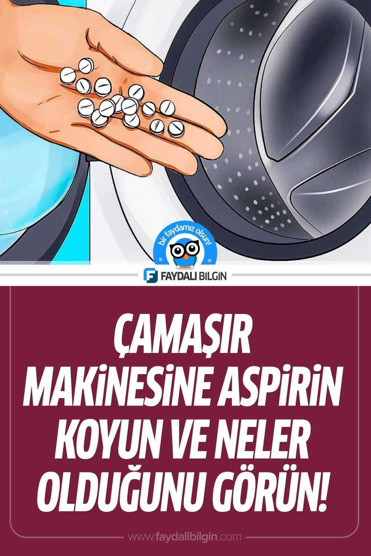Çamaşır Makinesine Aspirin Koyun ve Neler Olduğunu Görün!