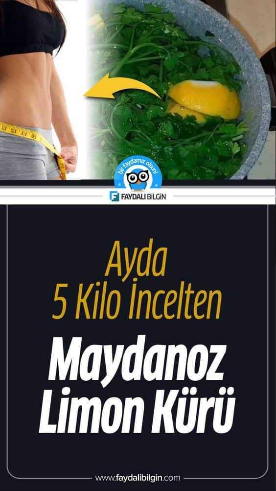 Ayda 5 Kilo İncelten Maydanoz Limon Kürü Tarifi