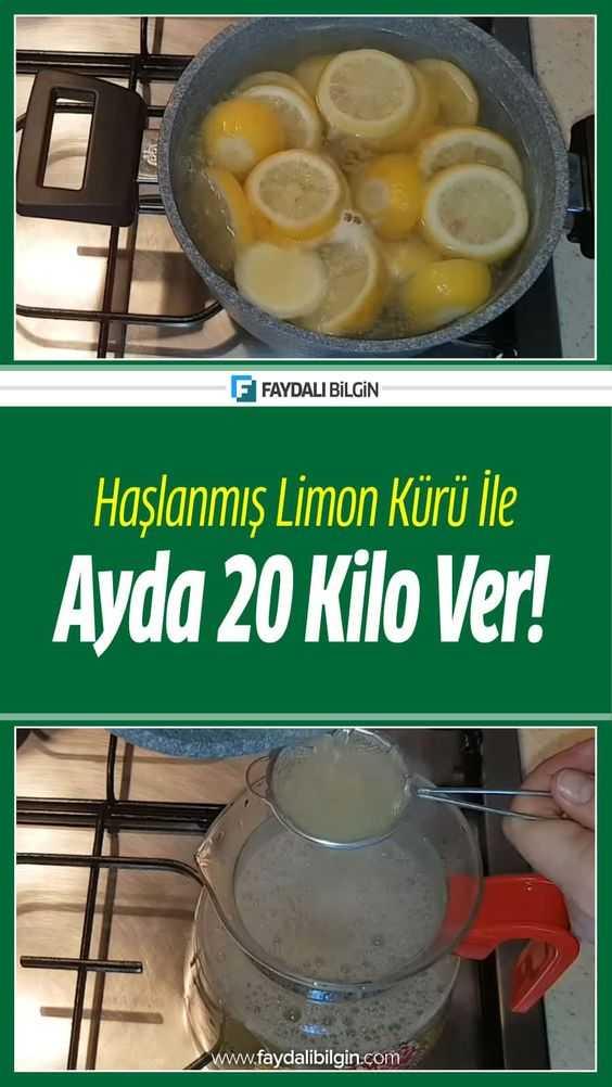 Haşlanmış Limon Kürü ile Ayda 20 Kilo Ver!