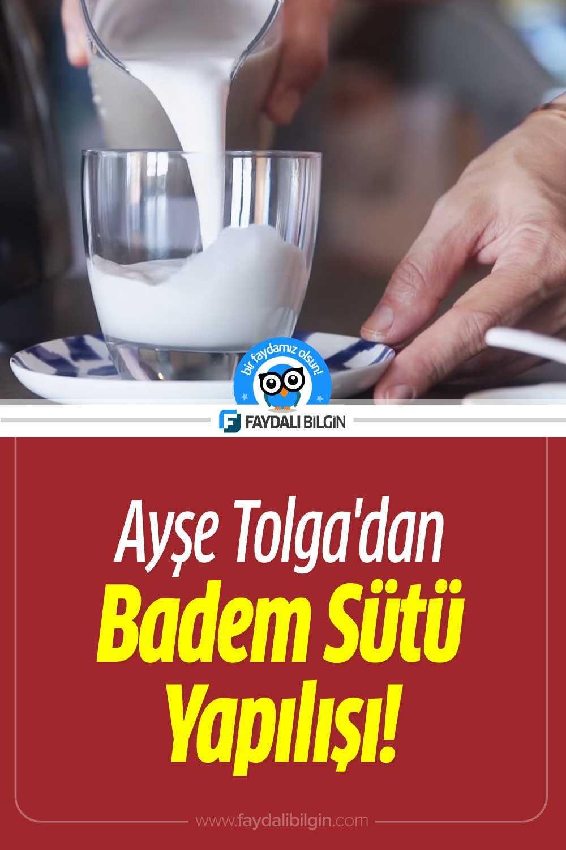 Ayşe Tolga\'dan Badem Sütü Tarifi