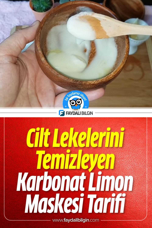 Cilt Lekelerini Temizleyen Karbonat Limon Maskesi