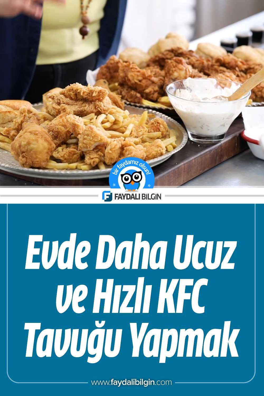 Evde Daha Ucuz ve Hızlı KFC Tavuğu Yapmak