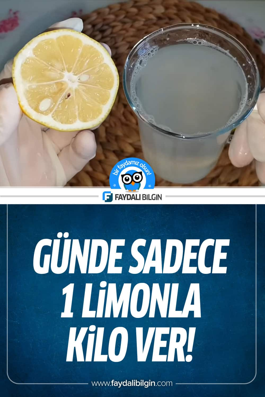 Günde Sadece 1 Limonla Kilo Ver!