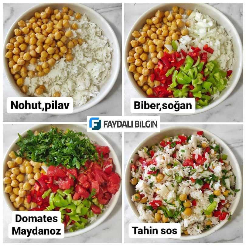 Nohutlu Pilav Salatası Tarifi