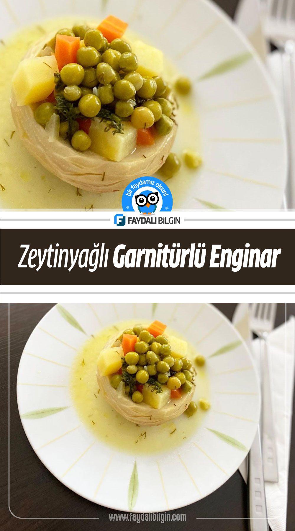 Zeytinyağlı Garnitürlü Enginar Tarifi